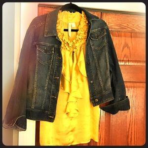 Mustard yellow layering blouse size L